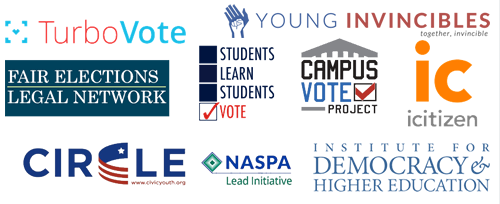 Engage The Election Partners logos