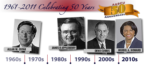 AASCU 50th Anniversary timeline banner