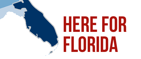 Here for Florida - graphic