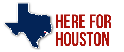 Here for Houston - graphic